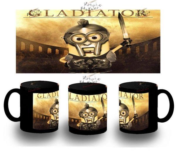 Taza Negra Gladiator Minions Gru 2 Villano Agnes Minion Mug Tazza Tasse Coupe - Bekiro