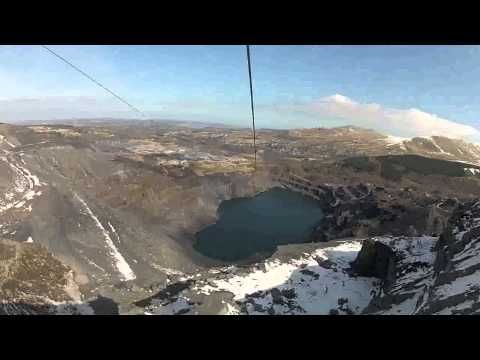 The northern hemisphere's longest zip wire in North Wales - YouTube