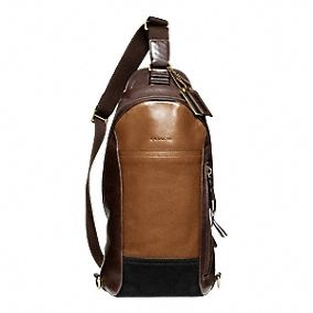 Bleecker Leather Colorblock Convertible Sling Pack for Dudes -- I like this