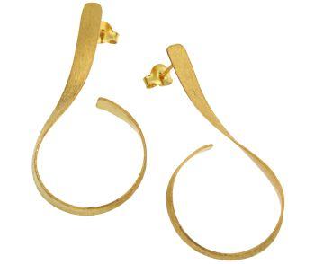 Σκουλαρίκια σε Ασήμι & επίχρυσο 925° Κρεμαστά #Earrings #Silver #Goldplated  #handmade #craftsmanship  #goldsmith #Thessaloniki #Greece 25074