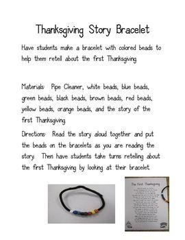 Thanksgiving story bracelet