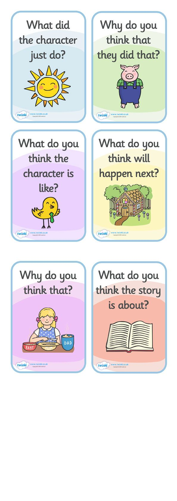 Twinkl Resources >> free printables. Reading Prompts for Parents  >> Thousands of printable primary teaching resources for EYFS, KS1, KS2 and beyond! reading, home school