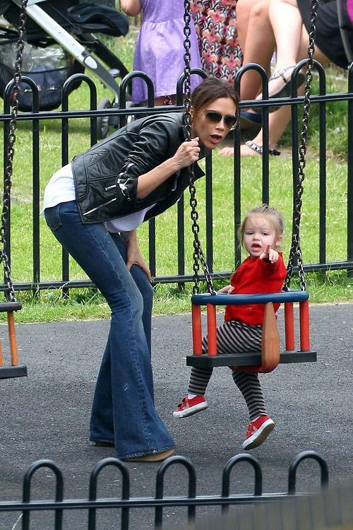 Victoria with Harper Beckham