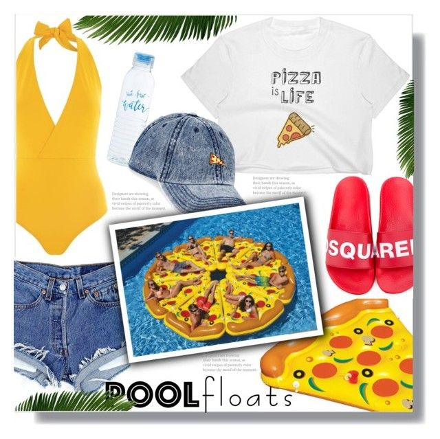 """""""Pizza Pool Float"""" by queenvirgo ❤ liked on Polyvore featuring Lazul, Dsquared2 and American Rag Cie"""