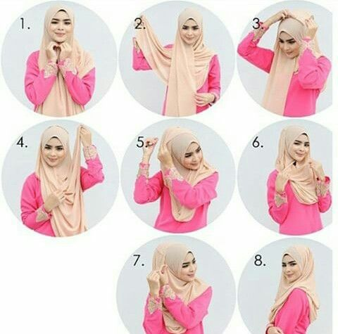 hijab tutorial, hijabers, and daily hijab image