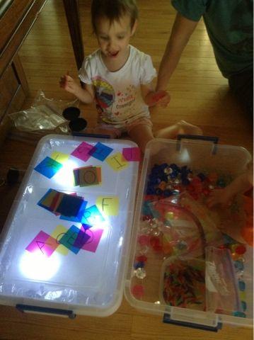 A Teacher at Heart: Guest Post: DIY Sensory Light Box