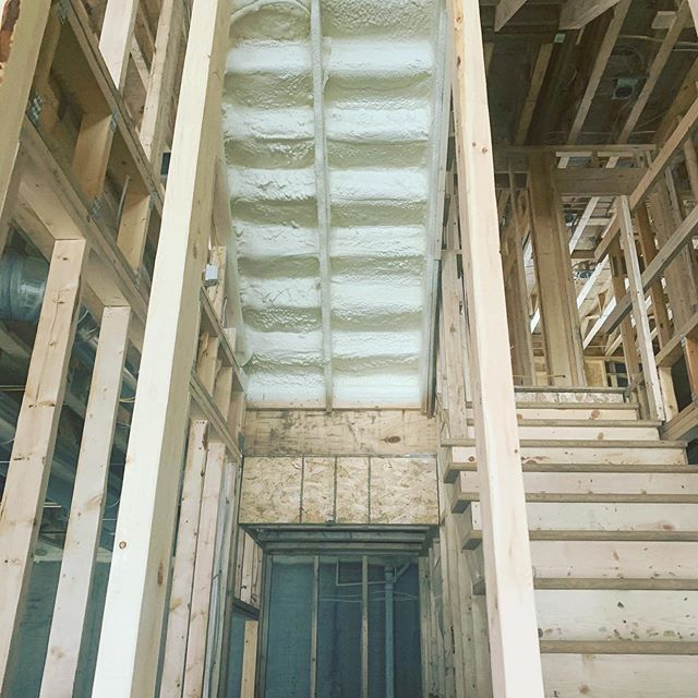 Closed Cell Spray Foam To Add Strength And Longevity To Stairs Omaha Spray Foam Instagram Photos And Videos Spray Foam Closed Cell Foam Foam