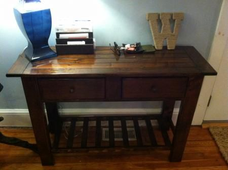 Benchwright/Tryde Console Table | Do It Yourself Home Projects from Ana White