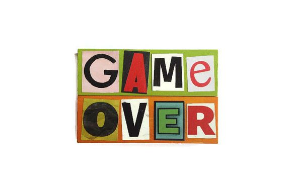 GAME OVER magnets reworked jenga blocks Green & by FuNkTjUnK