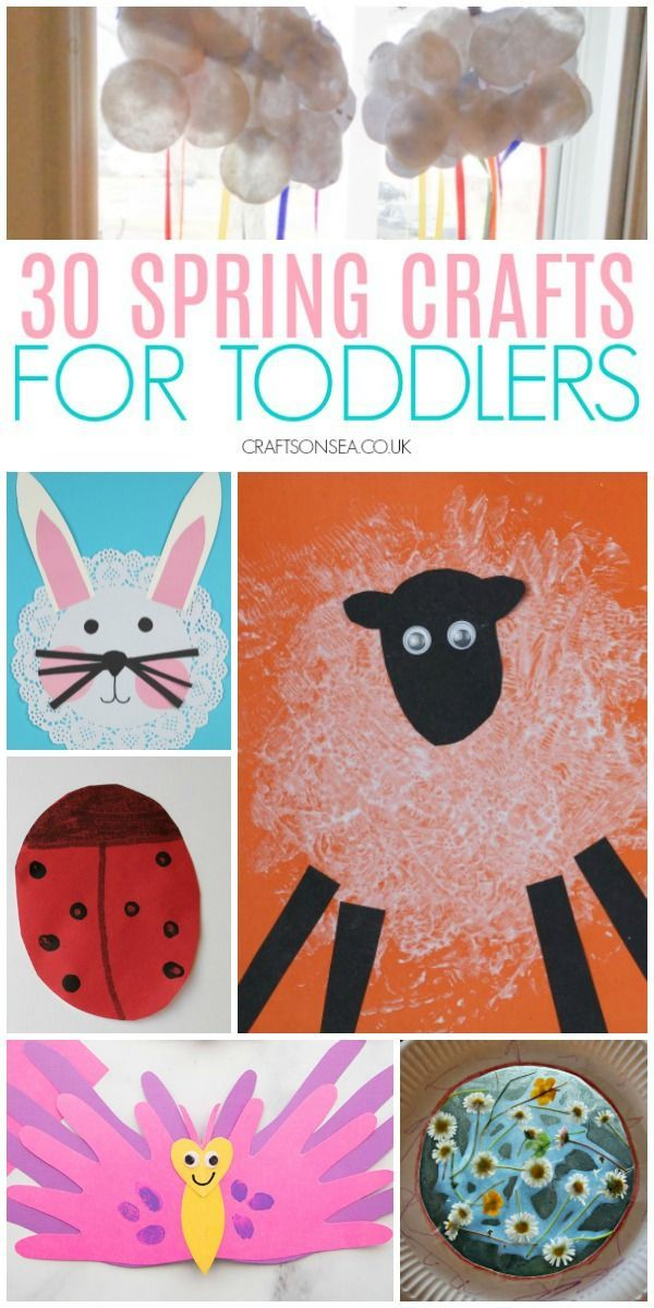 Spring Crafts Toddlers Can Make Easy Fun Toddler Preschool Springcrafts Spring Toddler Crafts Spring Crafts For Kids Toddler Crafts