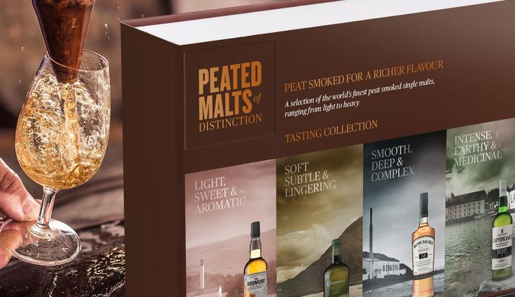 #Whisky fans are notoriously hard to buy for at Christmas, so increase your chances four-fold with the Peated Malts of Distinction® gift pack! #whiskey