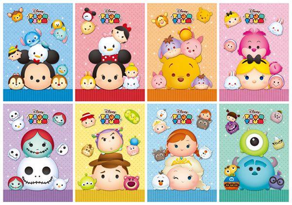 Disney Tsum Tsum - My Tsum Notebook 8Pack BOX