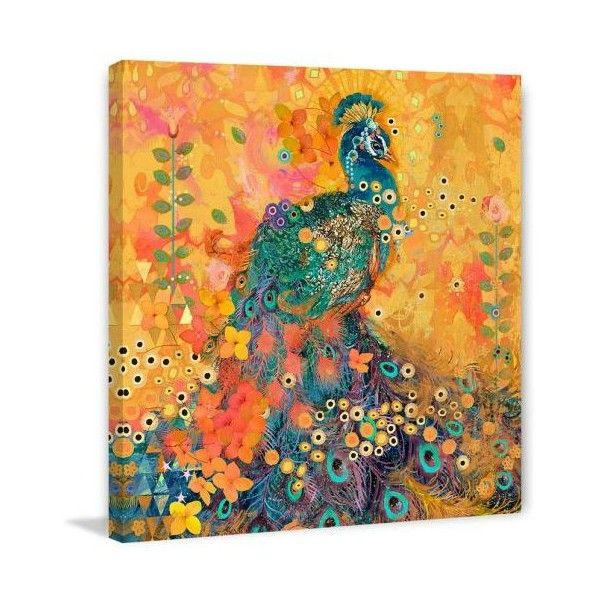 Marmont Hill Afrikarma Peacock 547 Print on Canvas 32 x 32 Home Decor (235 CAD) ❤ liked on Polyvore featuring home, home decor, wall art, canvas art, wall decor, peacock canvas wall art, peacock home decor, peacock wall art, peacock home accessories and canvas home decor