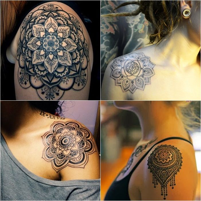mandala ombro tatuagem que chic