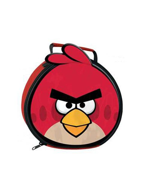 Angry Birds shaped lunch bag (Insulated) Ideal for school or holidays - Zip closing Comes with carry handle