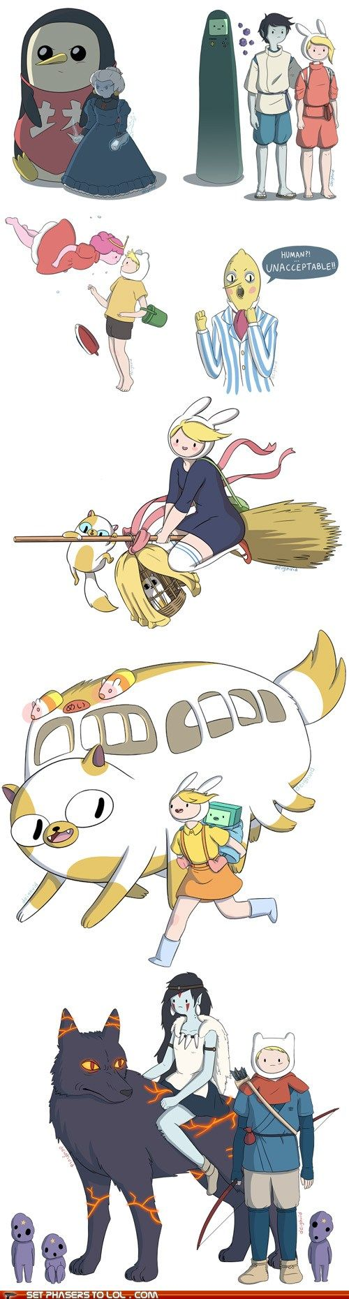 If Miyasaki created Adventure Time