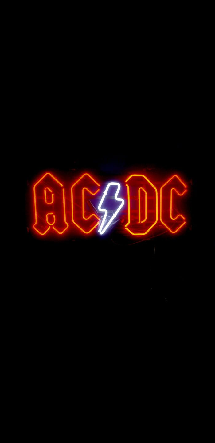 Neon Ac Dc Rock Band Posters Acdc Wallpaper Band Wallpapers