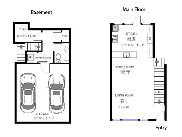 Best 45 floor plans urban rows images on pinterest other for Urban townhouse floor plans