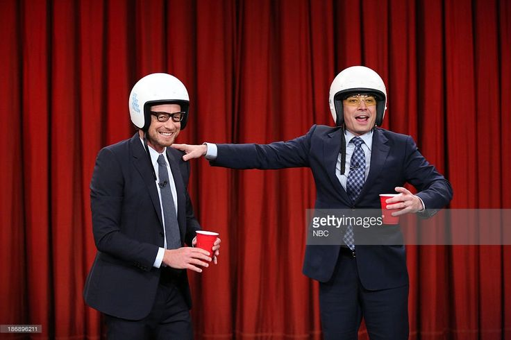 Actor Simon Baker and Jimmy compete in the drinking game Stump on Monday, November 4, 2013 --