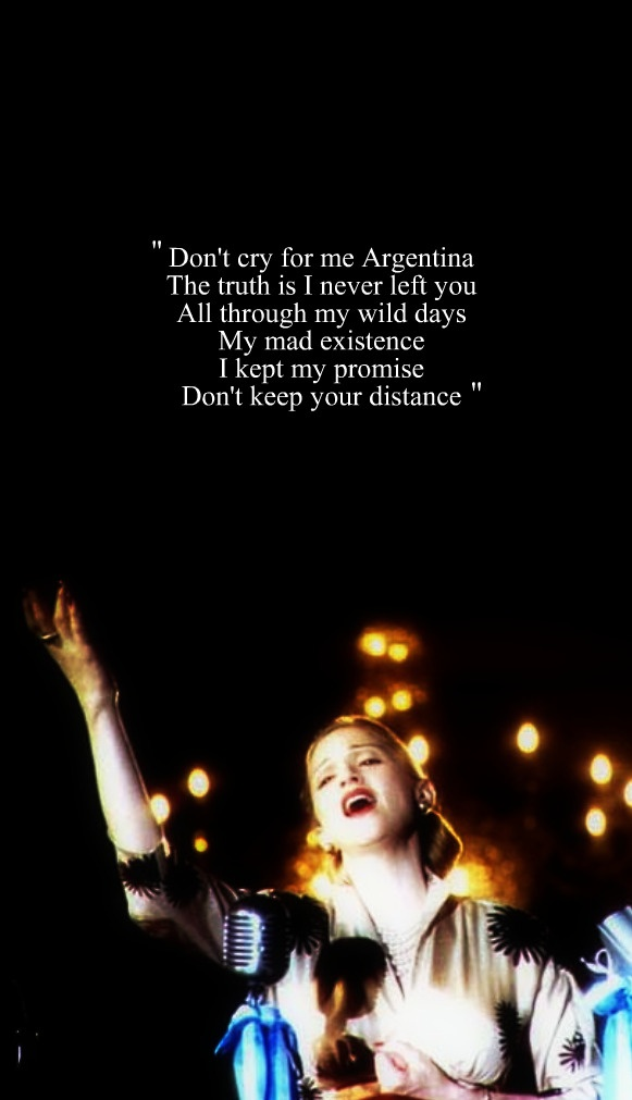 Don't Cry For Me Argentina (Evita)