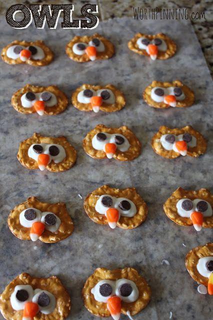 Worth Pinning: Pretzel Chip Turkey Heads - Edible Craft