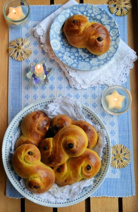 Lavender and Lovage | Lussekatter – St Lucia Saffron and Cardamom Sweet Buns for St Lucy's Day | http://www.lavenderandlovage.com