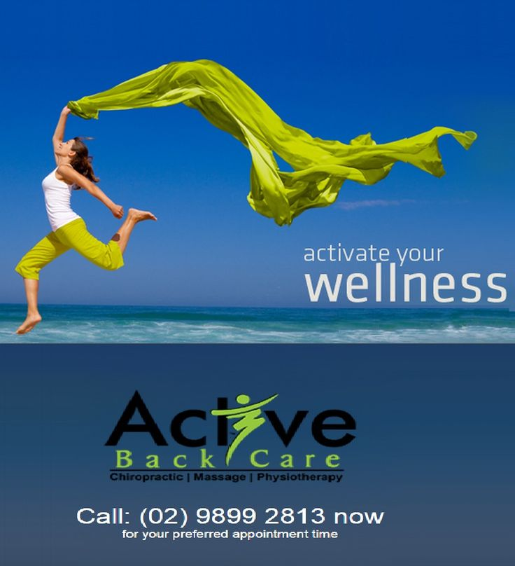 Experience our wellness services at Active Back Care and activate your Wellness! http://activebackcare.com.au/