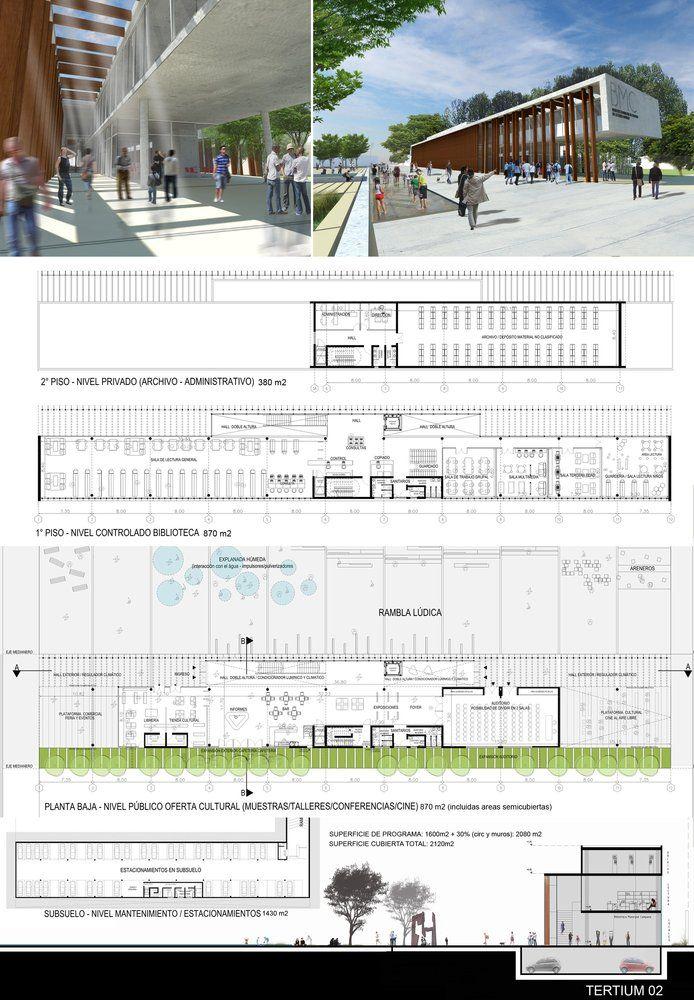 Galería de Primer Lugar Concurso para el Nuevo Edificio Biblioteca Municipal de Campana - 11