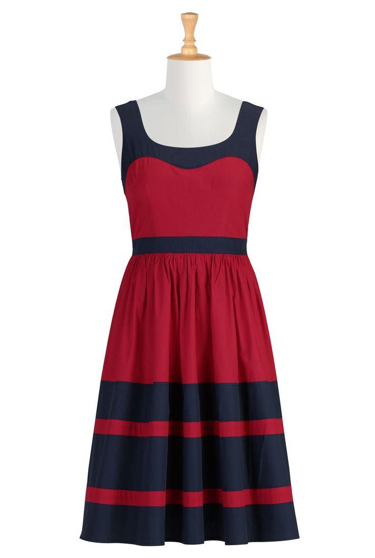 love the colorblock and silhouette!Women Colorblock, Fashion Dresses, Custom Clothing, Eshakti Women, Retro Frocks, Design Fashion, Size 0 36W, Shops Women, Colorblock Retro