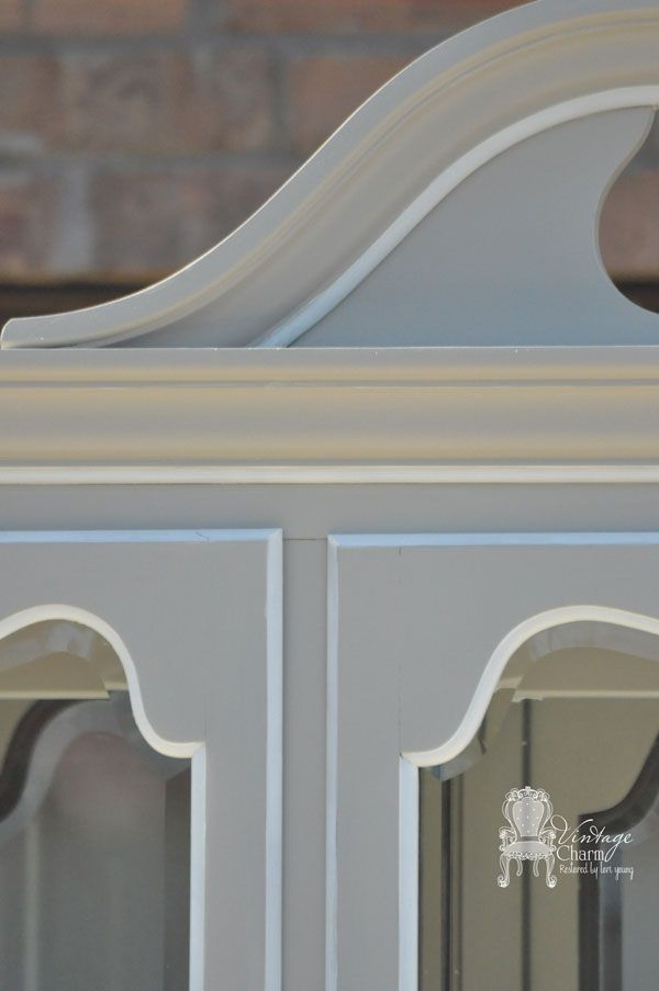 Thomasville painted china hutch sherwin williams anew for Chalk paint at sherwin williams