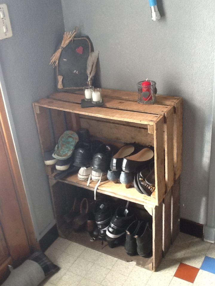 17 meilleures images propos de bricolage sur pinterest - Meuble a chaussure en bois ...