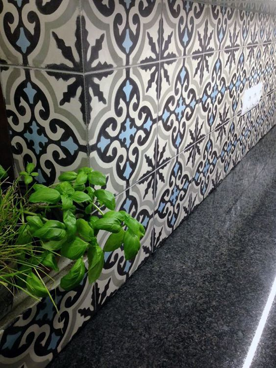 aisha cement tiles on the wall