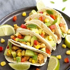 Frisse taco's met kip, limoen