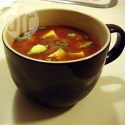 Sopa fria de tomate e abacate @ allrecipes.com.br