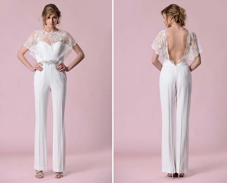 db3d72a73a8 Wedding Jumpsuits That Stylish Brides Will Love