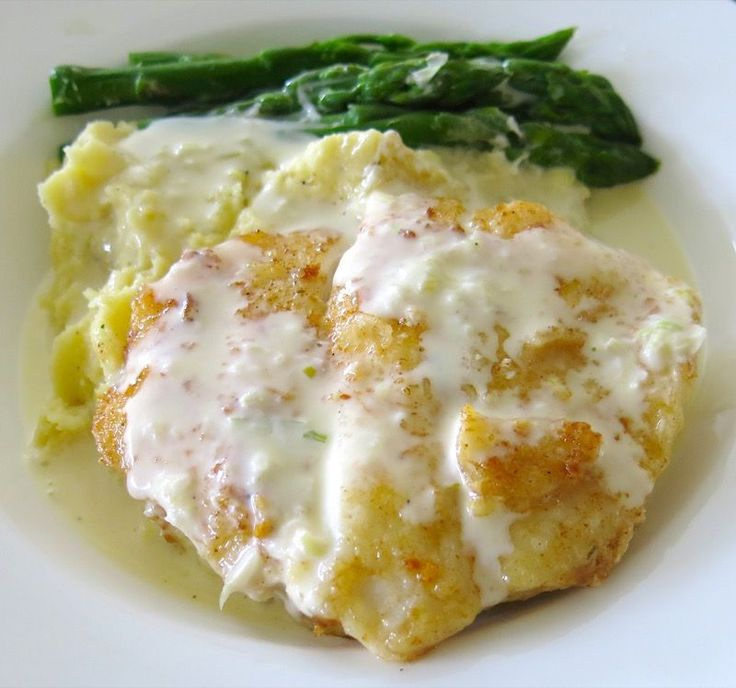 1 Hallibut Cheeks with Asparagus and Beurre Blanc