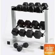 CAP Barbell 150 lb Rubber Hex Dumbbell Set with Rack - $179.99! - http://www.pinchingyourpennies.com/cap-barbell-150-lb-rubber-hex-dumbbell-set-with-rack-179-99/ #Dumbbellset, #Walmart