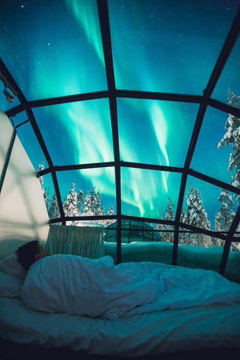 Spend a night or 2 in a glass igloo. Kakslauttanen Arctic Resort, Saariselkä, Kakslauttanen Arctic Resort