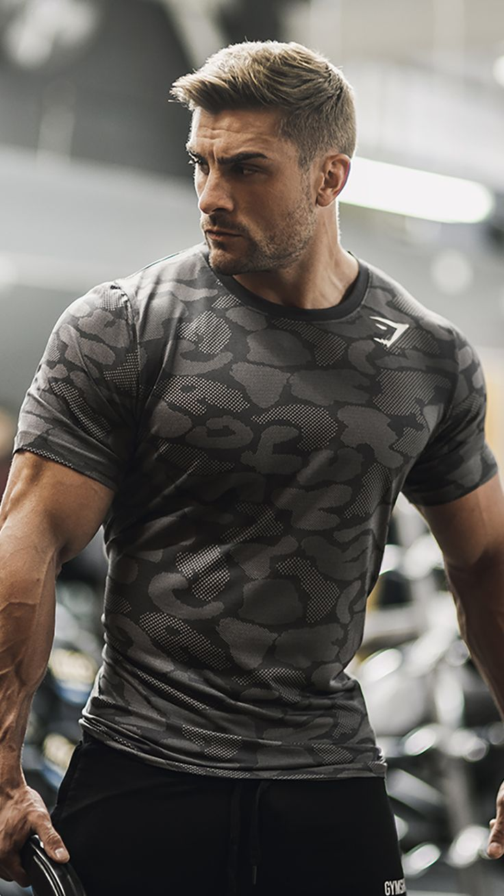 Welcome to the Gymshark family, Ryan Terry. Ryan works out in the Seamless Stealth t-shirt with the camouflage design woven into its structure. It's performance wear like you haven't seen before.