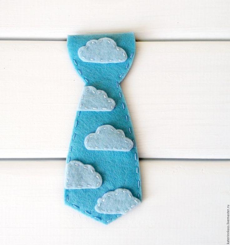 """Купить Галстук для мальчика """"Облака"""" - голубой, галстук-бабочка, галстук, галстук ручной работы"""
