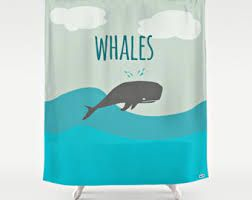 whale shower curtain - Google Search