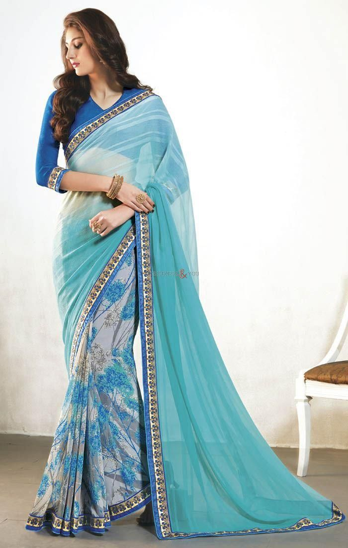 Traditional half saree blouse neck designs at best price online shopping