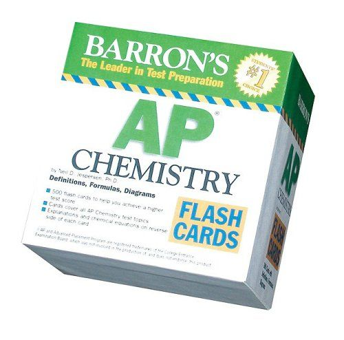 Barrons AP Chemistry Flash Cards Barrons: the Leader in Test