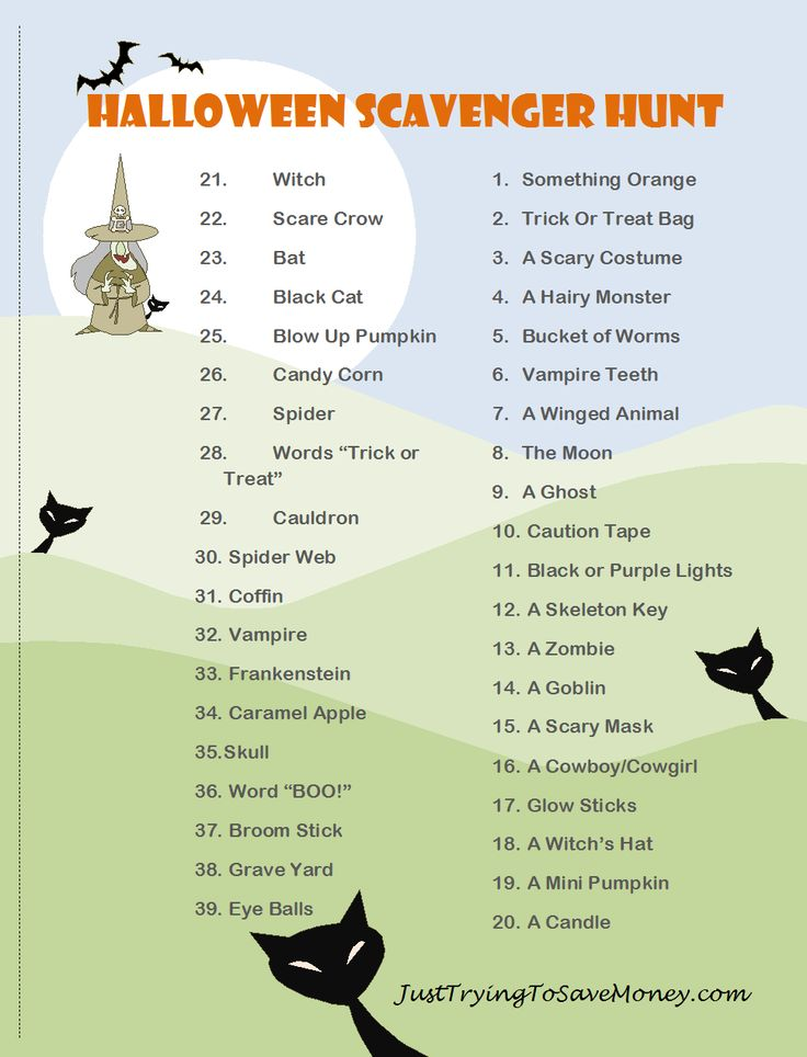 Halloween Scavenger Hunt- Who doesn't love a fun #halloween scavenger hunt?!?!?…