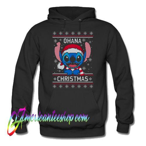 Stitch Ohana Christmas ugly Hoodie