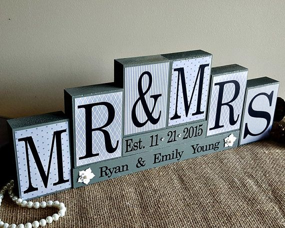 Monogram Wedding Gift Ideas: Best 25+ Mr Mrs Sign Ideas On Pinterest