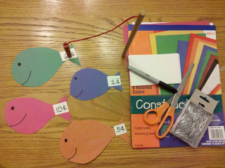 Go Fishing! http://alissaroberts.hubpages.com/hub/Teaching-Kids-About-Money-Educational-Money-Games-for-Kids