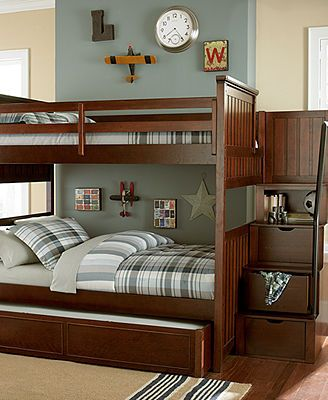 Huntsworth Kids Bedroom Furniture, Twin Over Twin Cherry Bunk Bed   Kidsu0027  Furniture   Furniture   Macyu0027s