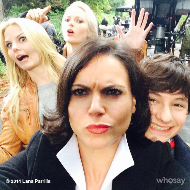 """Lana Parrilla // """"Four heads are better than one!... @jenmorrisonlive @GeorginaHaig @Jared_Gilmore #OnceUponATime"""""""