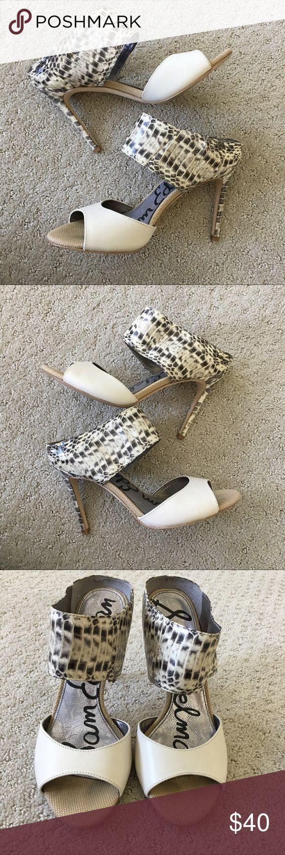 Sam Edelman Scotti Snakeskin Heels Only worn a few times & in great condition! Sam Edelman Shoes Heels